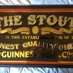 """The Stout"" handpainted glass sign"