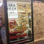 Cut-glass vintage wagon mirror