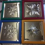 Miniature cut glass mirrors