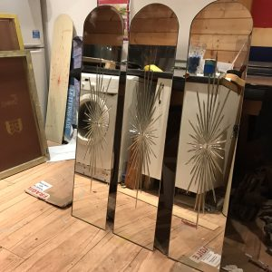 Cut-glass fairground galloper mirrors