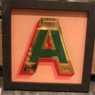 Personalised Signwritten & Gilded Letters